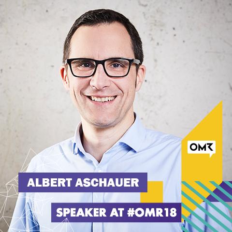 Albert Aschauer als Speaker bei der OMR