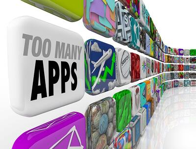 Smartphone Icons - Too many Apps