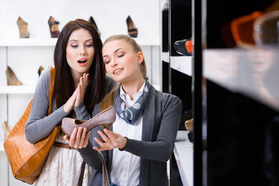 Einkaufserlebnis Schuhe
