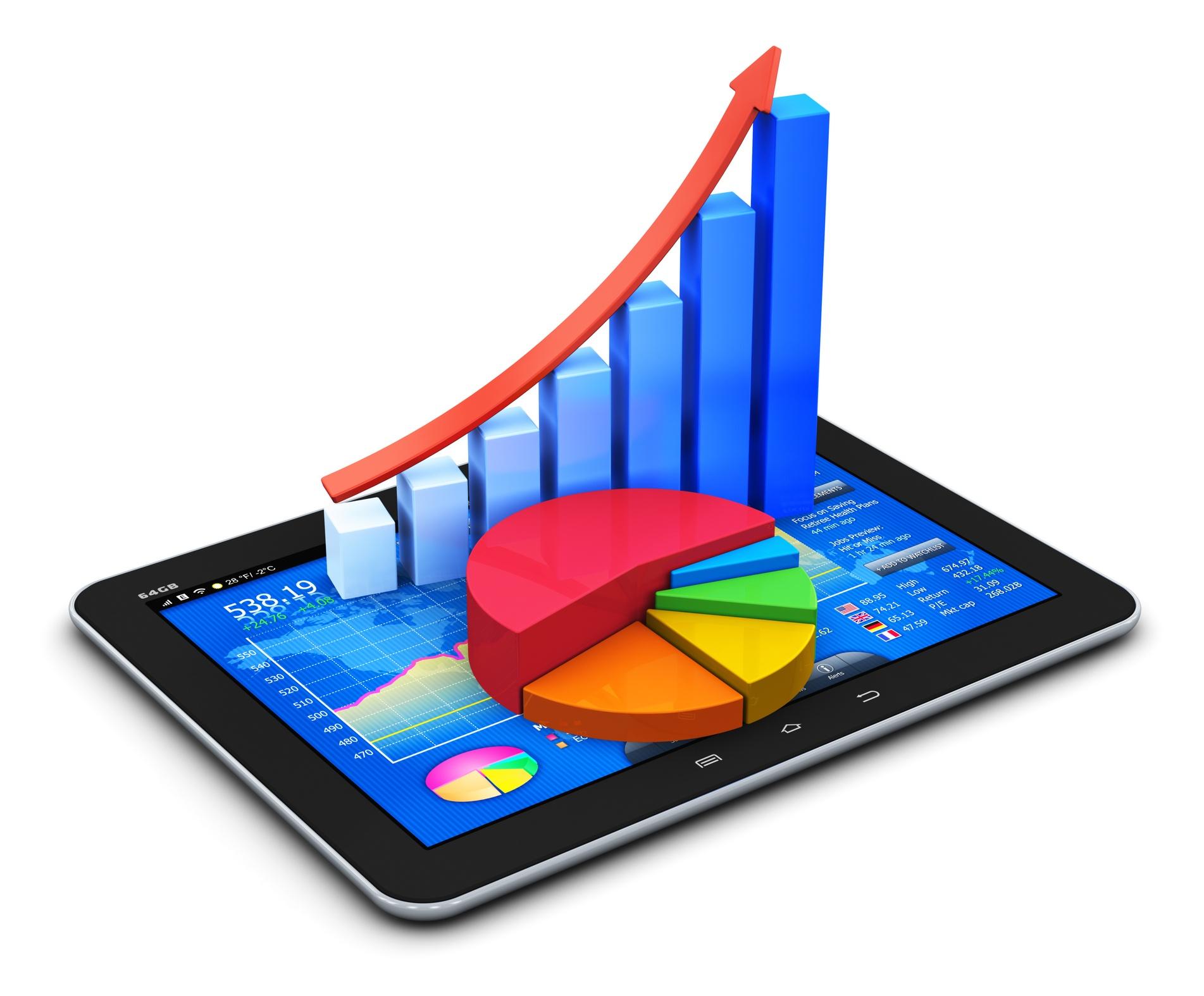 Umsatzstatistik-auf-Tablet